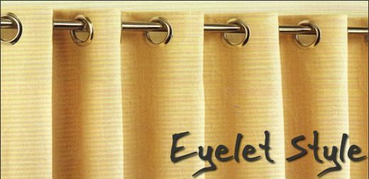 Eyelet curtain information
