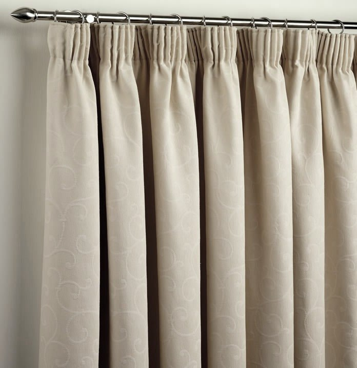 Ready made curtains cheap curtains online custom made for Pencil pleat curtains on track